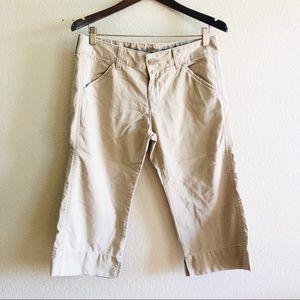 🛍Lucky Brand || Khaki Capri Pants